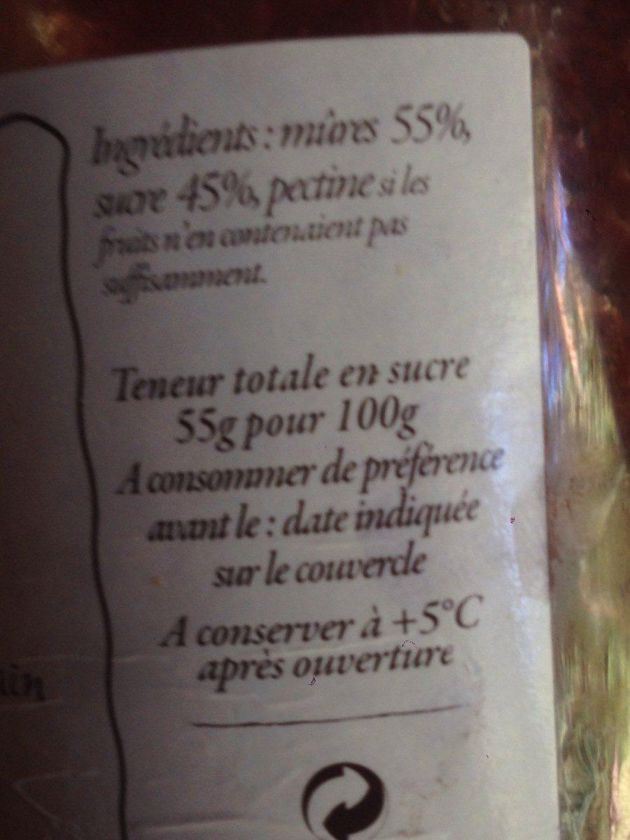 Gelée Extra Mûres - Ingredienti - fr