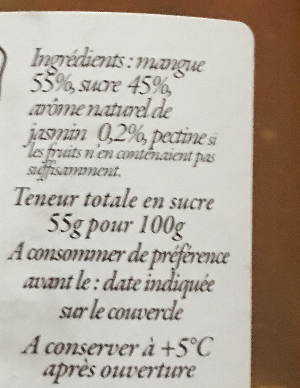 Preparation de fruit mangue jasmin - Inhaltsstoffe - fr
