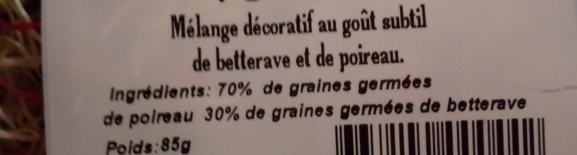 Vitalfa Graine de Vitalité - Ingredients - fr