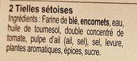 Tielles Sétoises (x 2) 210 g - Ingrediënten