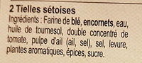 Tielles Sétoises - 成分 - fr