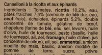 Cannelloni ricotta epinards - Ingrediënten - fr