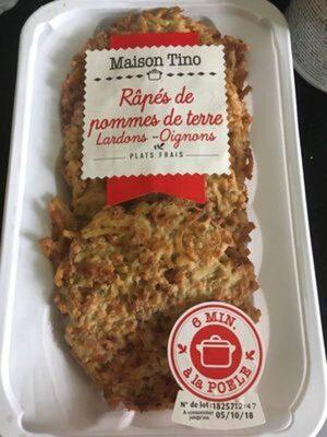 Râpés de pommes de terre lardons oignons - Produit - fr