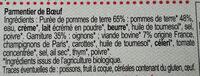 Parmentier de bœuf - Ingrediënten - fr