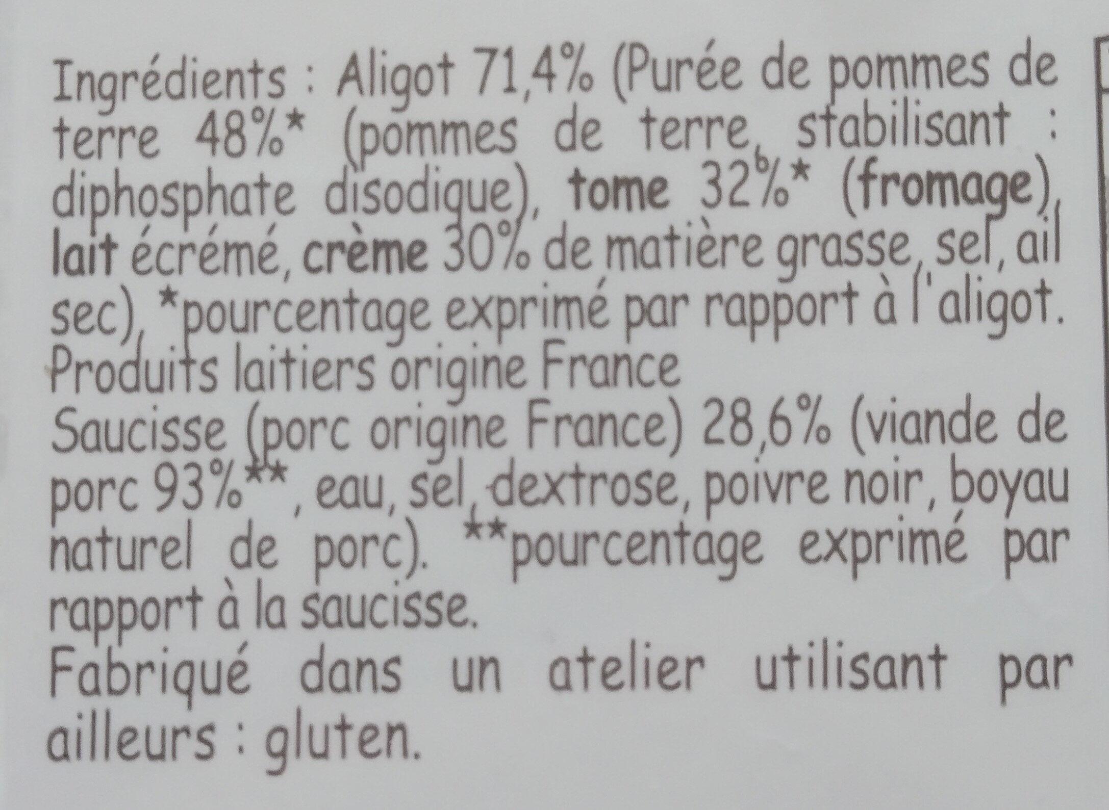 Aligot saucisse - Ingrediënten - fr