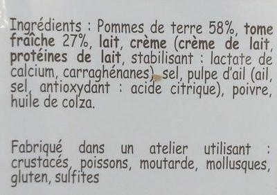 Truffade - Ingrédients - fr