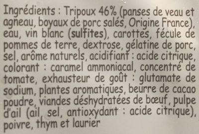 Tripoux - Ingrédients