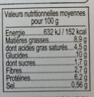 Parmetier de Boeuf - Voedingswaarden - fr