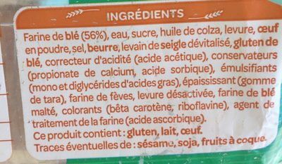 Pain De Mir - Special Foie Gras - Ingredients