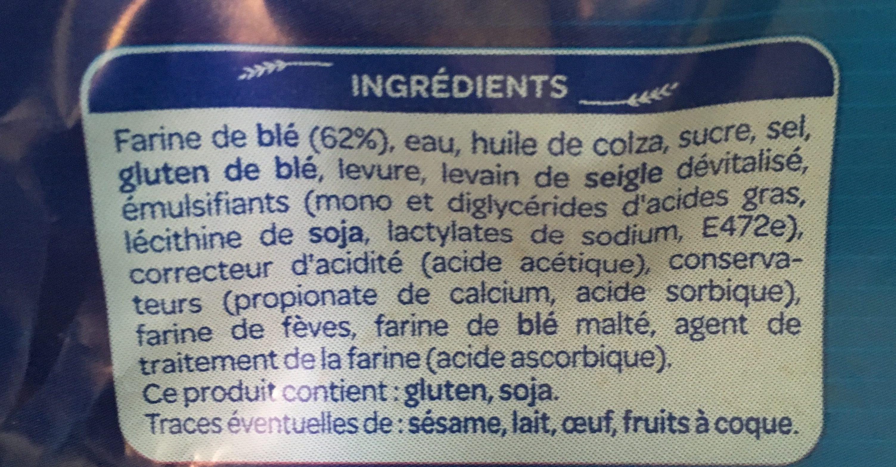 Le Carré Nature (maxi format) - Ingredients