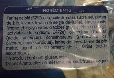 Le carre nature - Ingrédients