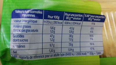 Le lord - Nutrition facts