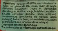 Pain de mie spécial sandwich - Ingredients