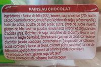 Pain au Chocolat - Ingrédients - fr