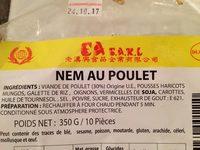 Nem au poulet - Ingrédients - fr