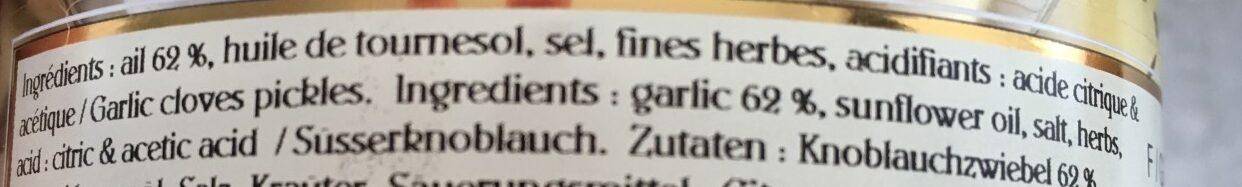 Goussettes d'ail aux fines herbes - Ingrediënten - fr