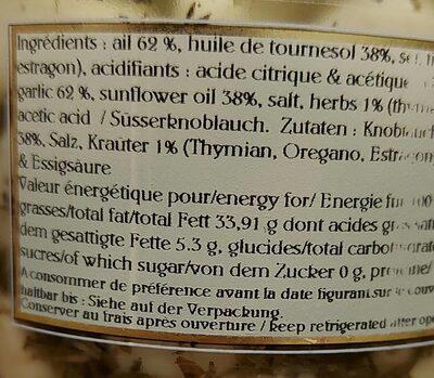 Goussettes d'ail aux fines herbes - Voedingswaarden - fr