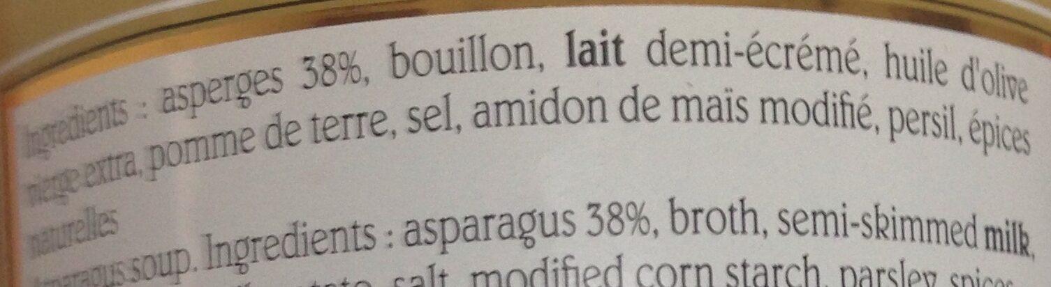 Velouté D'asperges - Ingrédients - fr