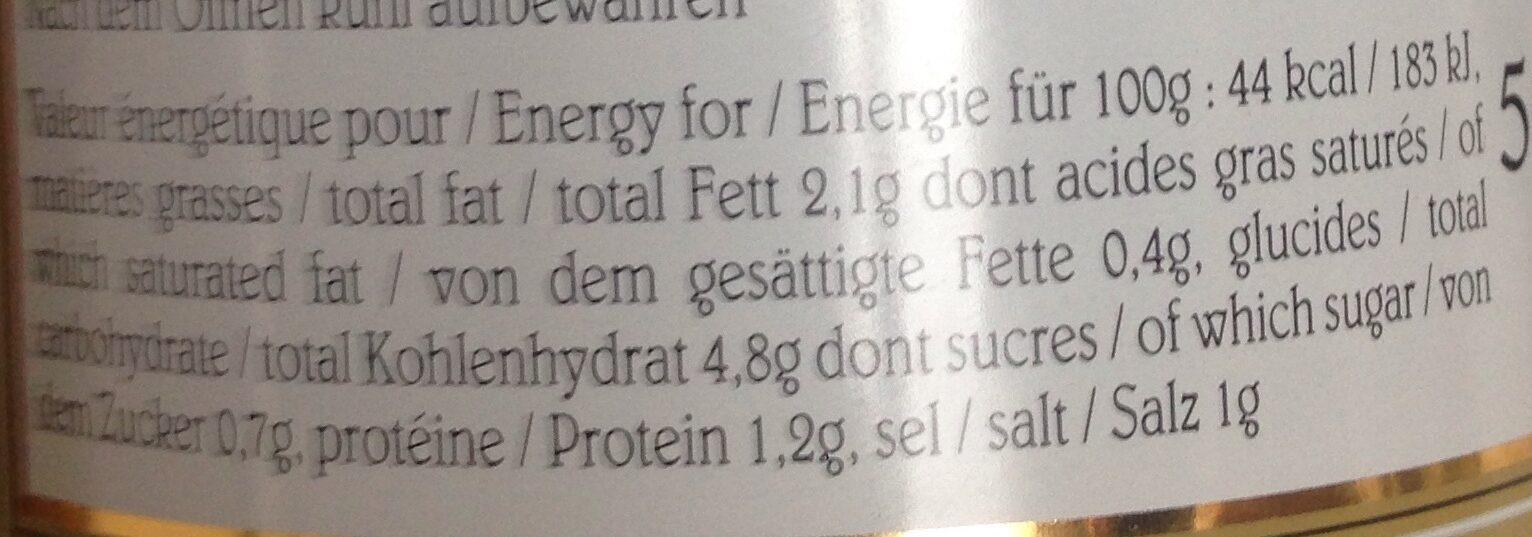 Velouté D'asperges - Informations nutritionnelles - fr