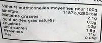 Tagliatelle - Voedingswaarden - fr
