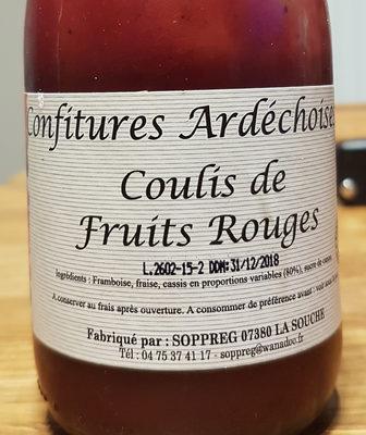 coulis de fruits rouges - Product - fr