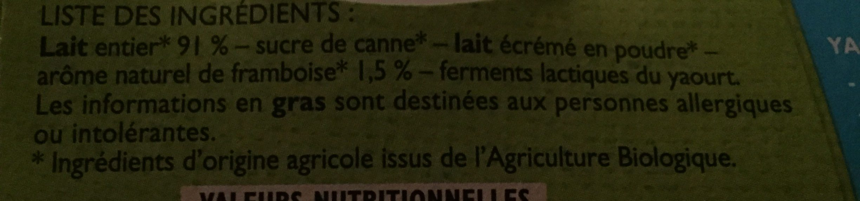 Péchalou - Ingredients