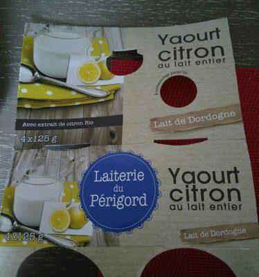 Yaourt Citron au lait entier - Product - fr