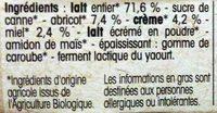 Yaourt gourmand Abricot Miel - Ingrédients - fr