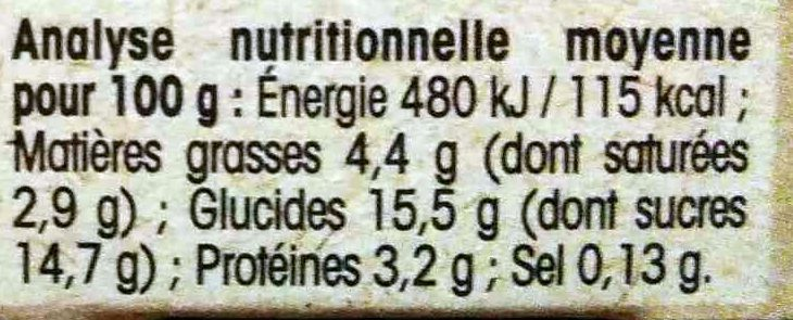 Yaourt gourmand Abricot Miel - Informations nutritionnelles - fr