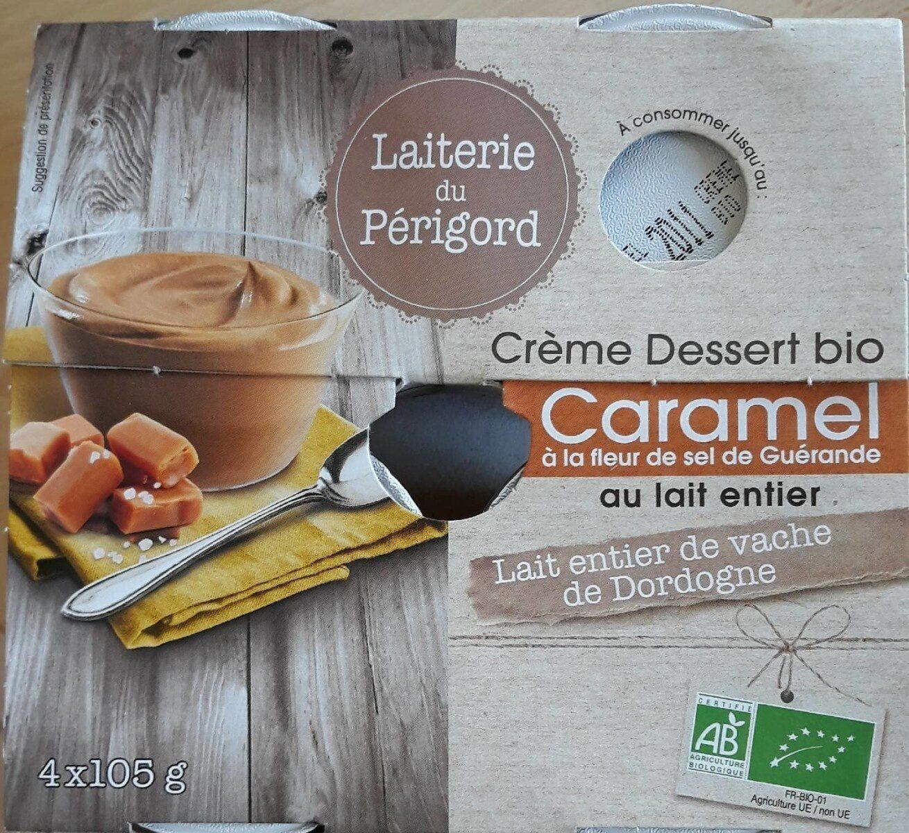 Crême Dessert bio au Caramel à la fleur de sel - Produit - fr