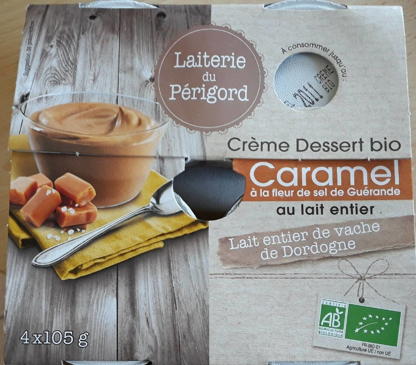 Crême Dessert bio au Caramel à la fleur de sel - Informations nutritionnelles - fr