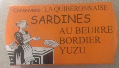 Sardines au beurre bordier Yuzu - Produit - fr