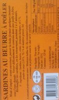 Sardines au beurre bordier Yuzu - Ingrédients - fr