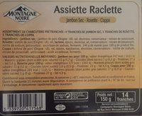 Assiette Raclette Jambon sec-Rosette-Coppa - Ingrédients - fr
