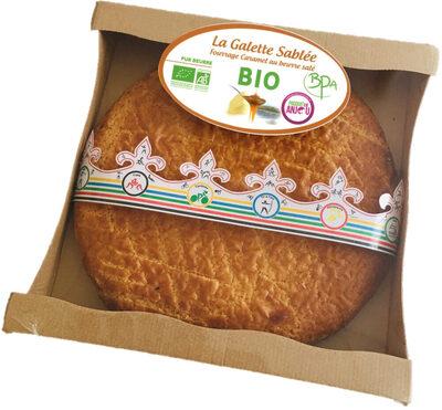 Galette Sablée caramel au beurre salé BIO avec fève 480g - Produit - fr