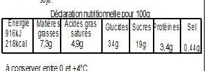 Pâté aux fruits rouges 700g - Nutrition facts - fr