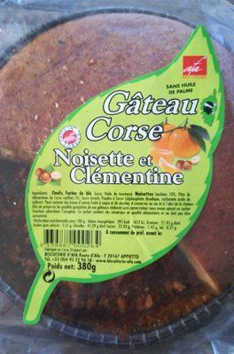 GÂTEAU CORSE NOISETTE ET CLEMENTINE - Produit