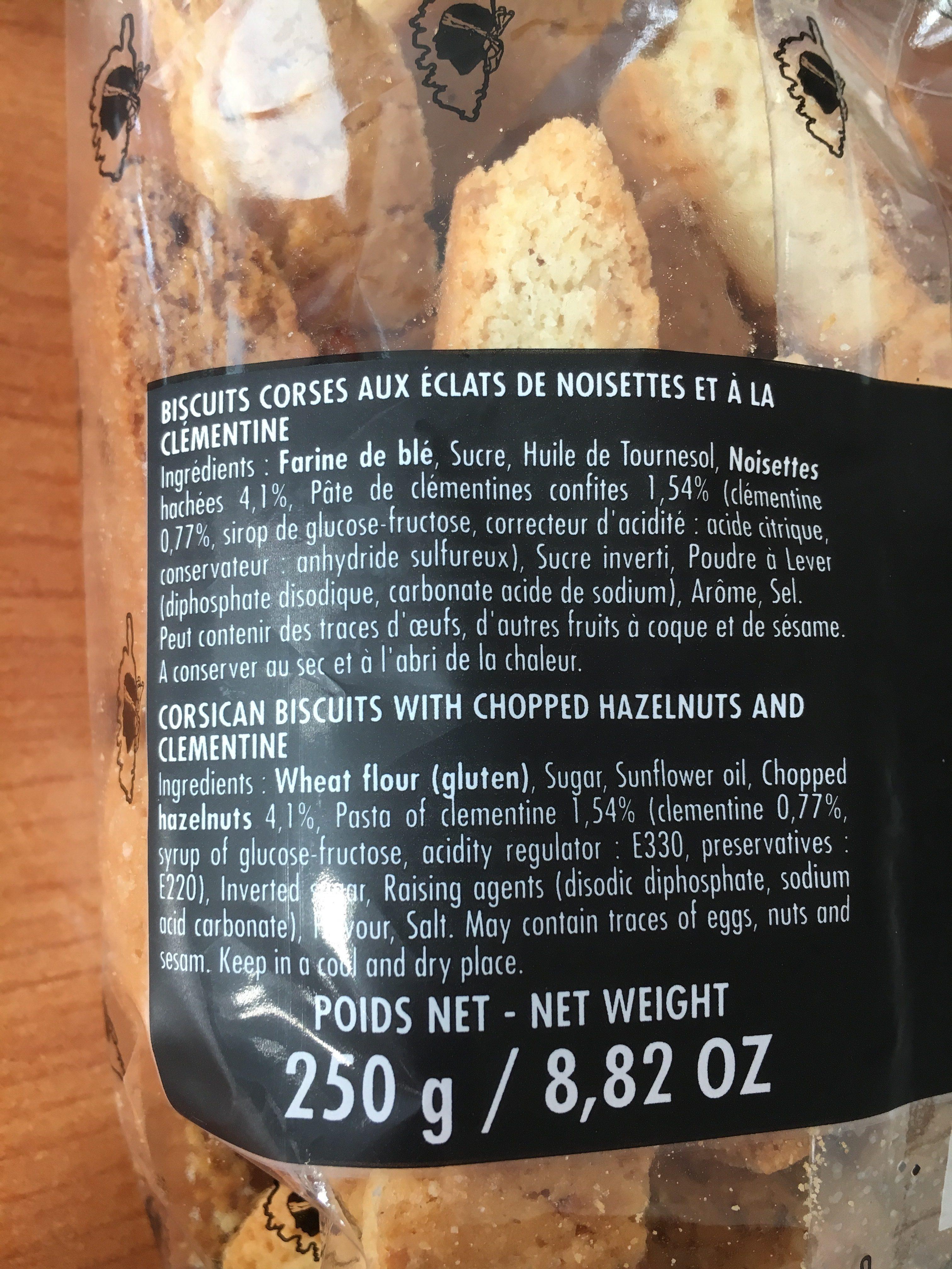 Canistrelli - Ingrédients
