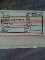 MAROILLES - Ingrediënten - fr