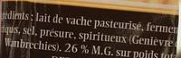 Le pavé de l'helpe - Ingredients - fr