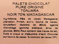 Palets chocolat - Ingrédients