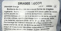 Dragées - Ingredients