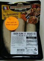 Boudin blanc St Jacques x3 - Produit - fr