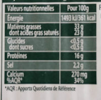 Saint agur offre gourmande - Informations nutritionnelles - fr