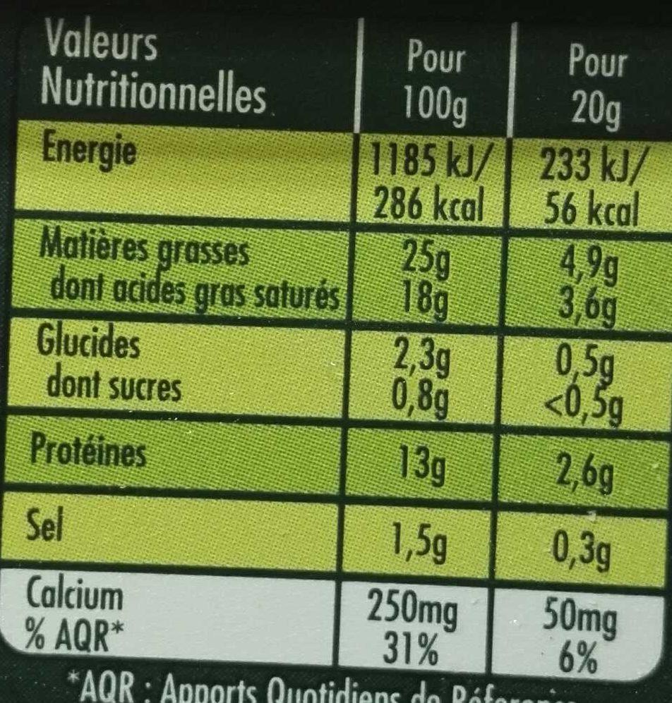 Saint Agur Crème - Informations nutritionnelles - fr