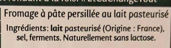 Saint Agur (Offre plaisir) - Ingrédients - fr
