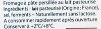 Tranches Force & Fondant - Ingrédients - fr