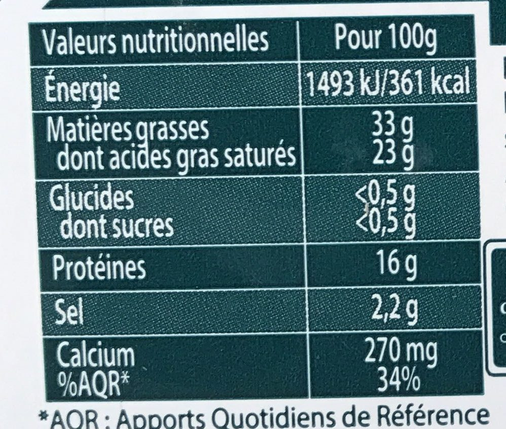 Tranches Force & Fondant - Informations nutritionnelles - fr