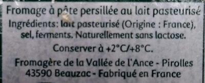 Saint Agur - Ingrédients - fr