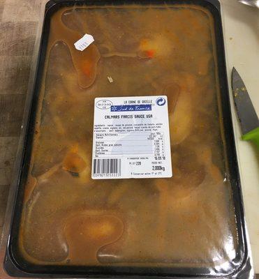 Calmars Farcis Sauce USA - Produit